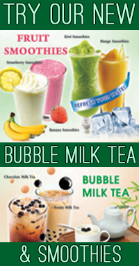 try our bubble milk or a smoothie